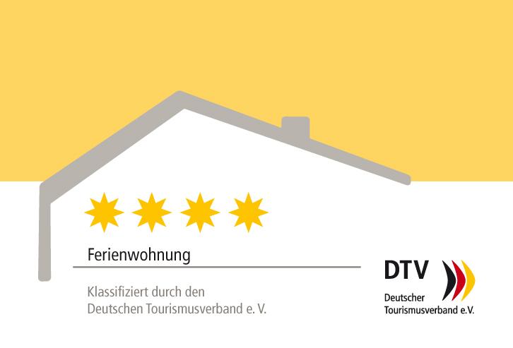 DTV-Klassifizierungsschild_5Sterne Ferienwohnung Ottenhöfen